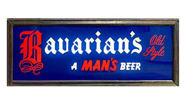 Bavairans OS Backlit Sign Silver Frame 1