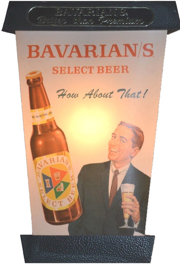 Bavarian/s Select Beer Lantern by IBI; Man Side.