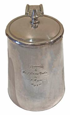 A Sterling Silver Stein, 1887