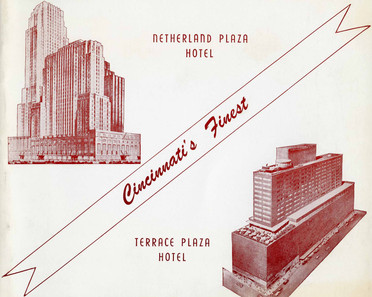 Photo Jacket of the Netherland Plaza and Terrace Plaza Hotels, Cincinnati, OH