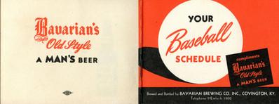 Bavarians Reds Baseball Schedule 1949 2.