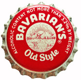 """Bavarian's Old Style OH Crown For 3.2% Beer. States """"Ohio Beer Tax Paid 1/2 Cent"""" printed on side."""