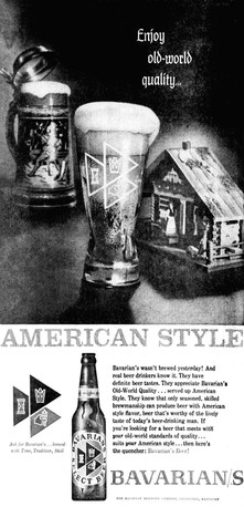 Bavarian/s Select Beer Ad: Old World Quality...American Style