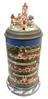 The Rodenstein Villages and Castle 3.8 Liter Stein by Mettlach (No. 2038).