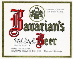 Bavarian Old Style 12 oz IRTP Label.