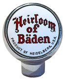 Heirlom of Baden Beer Tap Marker.  Heidelberg Brewing Co., Covington, KY.