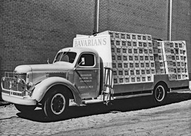 Bavarians Select Truck with cases circa