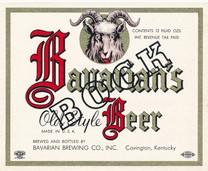 Bavarians Old Style Bock Beer OH Label
