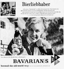 The BAVARIAN GIRL Bierliehaber Ad - for Bavarian's Select Beer.
