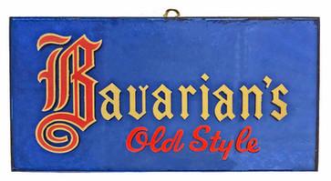 Bavarian's Old Style Smoked Mirror Sign, Covington, KY.