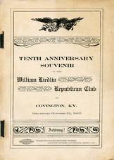 Tentha Anniversary Sourvenir of the Wm. Riedlin Republican Club.