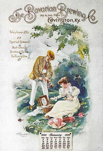 1899. Bavarian Brewing Co. Calendar, Covington, KY