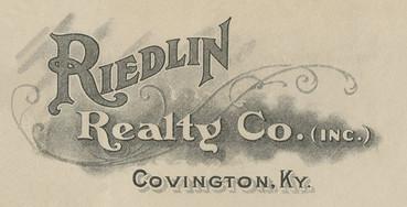 Logo for Riedlin Realty Co. Inc., c. 1919.