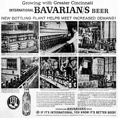 BAVARIAN/S BEER AD for the New IBI Bottling Plant at the Bavarian Brewery in Covington, KY.