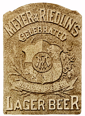 Meyer Riedlin Celebrated Lager Sign, c. 1884.