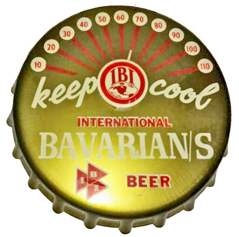 Bavarian's Beer Bottle Cap Thermometer, Bavarian Brewing Co., Covington, KY