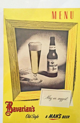 Bavarian's Bavarian's Old Style Beer Menu, Bavarian Brewing Co., Covington, KY
