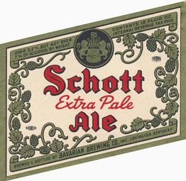 Schott Ale Ohio Label, 12 oz, 7 pct. c. 1940s.