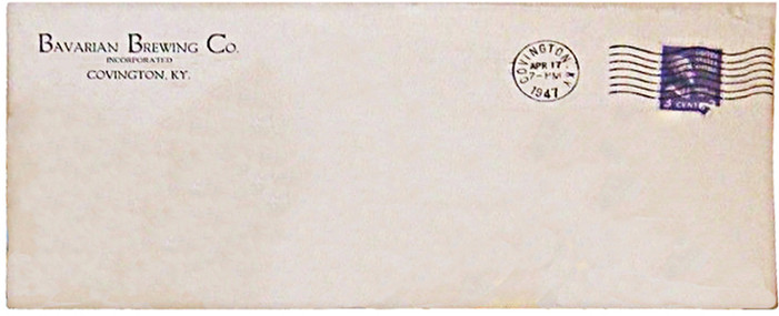 Bavarian Brewing Co. 1947 Envelope -edit
