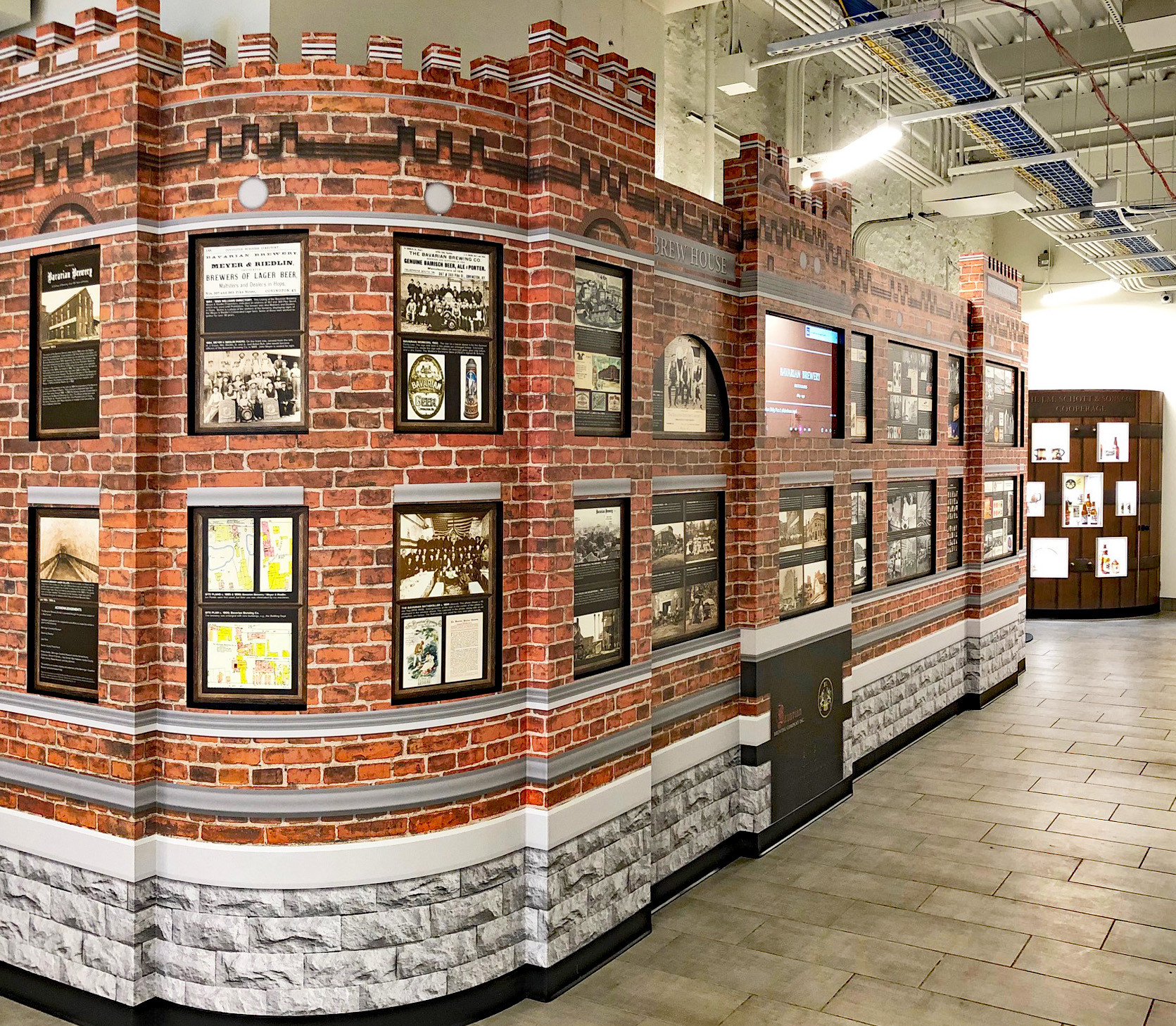 Brewery Wall and Barrel Exhibit