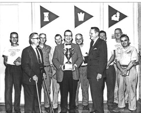 1962. The IBI / Bavarian Plant Bowling Team Champions, Covington, KY.