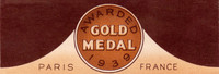 Heirloom Gold Medal Neck Label. Heidelberg Brewing Co., Covington, KY.