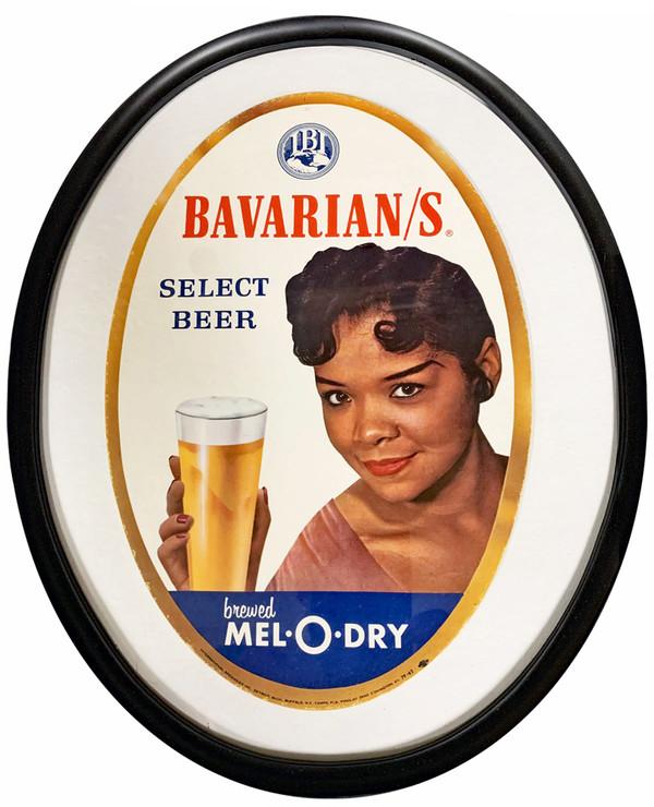 Bavarians Mel-O-Dry Select Beer Oval Sign, Covington, KY.