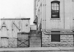 Office Entrance to Bavarian Brewing Co., 528 W. 12th Street, Covington, KY.