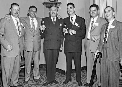 Adolphe Menjou with Bavarian Brewing Co. Execs., Terrace Plaza Hotel, Cincinnati, OH