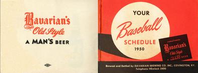 Bavarians Reds Baseball Schedule 1950A -