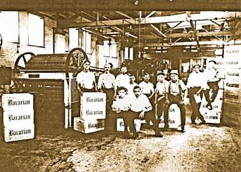 Bottling Department Interior, Bavarian Brewing Co., Covington, KY c. 1908. Y  c. 1910.