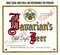 Bavarians Old Style Draft KY 0.5 Gallon Label