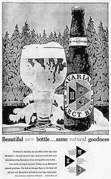 Bavarian's Select Beer New 3-Triangle Label in 1957, Bavarian/s, Bavarian Brewing Co.,