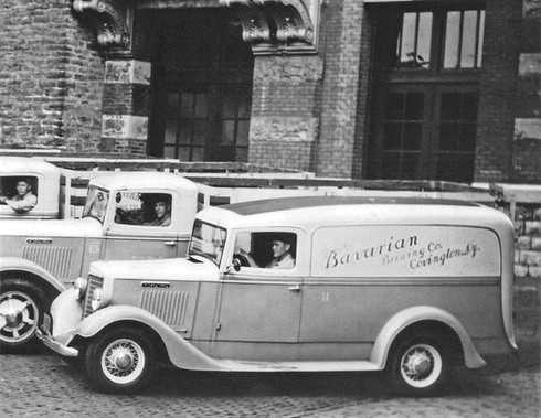 Early 1940's Beer Delivery Trucks