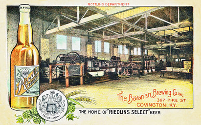 Riedlin Select Beer Postcard, c. 1910.