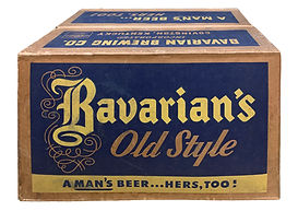 Bavarians OS Beer Case Mid1950s Blue Yel