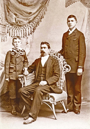 William Riedlin Sr., and his sons Walter and William Jr., Covington, KY c. 1895.