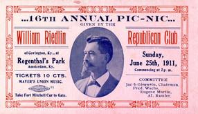 Ticket to the 16th Annual Wm. Riedlin Republican Club Pic-Nic.