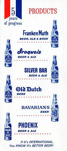 International Breweries Inc. Brands, c. 1959.