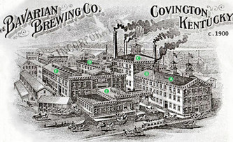 c. 1900 Lithograph of the Bavarian Brewing Co., Covington Ky.