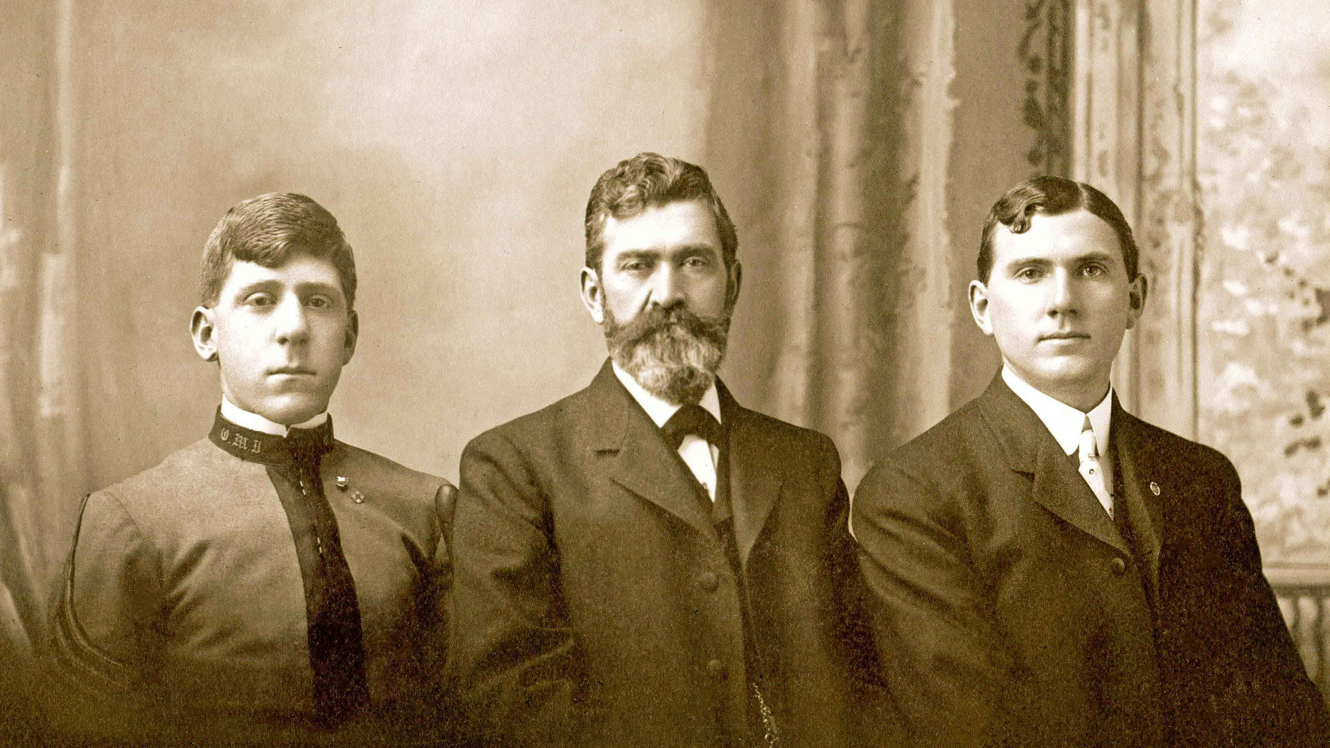 c. 1903. William Riedlin, Sr. and Sons, Walter F. Riedlin and William F. Riedlin, Jr.