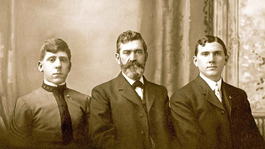 c. 1903. William Riedlin, Sr. and Sons, Walter F. Riedlin and William F. Riedlin, Jr.