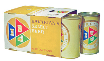 Bavarian's Select Beer Six-Pack of Cans, Covington, KY. 1957.