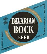 Bavarian Bock Black on Blue Ohio Label c. 1940-1946 12