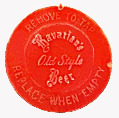 Barrel & Keg Cap, Bavarian's Old Beer, Bavarian Brewing Co., Covington, KYian Brewing Co., Covington, KY