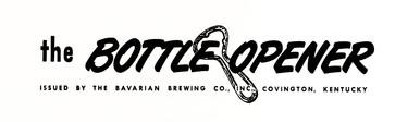 The BOTTLE OPENER Letterhead.