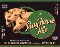 Bay Horse Ale Label. Heidelberg Brewing Co., Covington, KY.