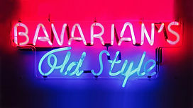 Bavarian's Old Style Pink & Blue Neon Sign c. Late 1940s.
