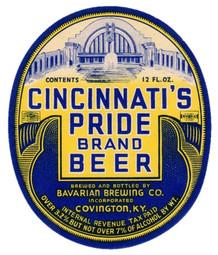 Bavarian Pride Beer 12 oz KY c. 1938-1940