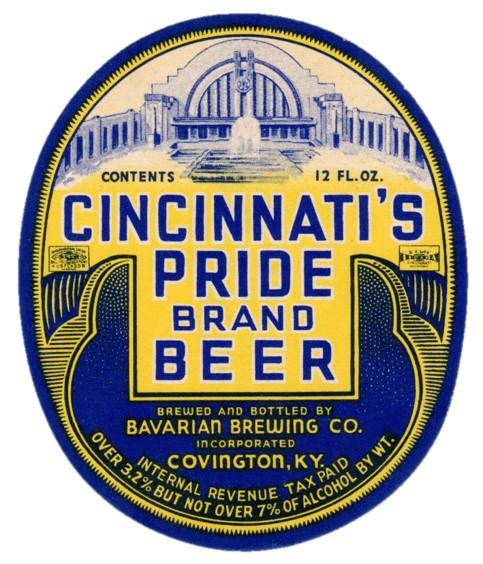 Bavarian Pride Beer 12 oz Oval 1935-1940